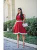 Vestido Godê Vermelho Maria Amore