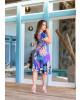 Vestido Gola Laço Roxo Boutique k