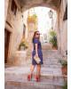Vestido Gola Polo Azul-Marinho Boutique K
