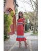 Vestido Linho Tricolor kauly