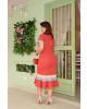Vestido Linho Tricolor Plus kauly