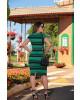 Vestido Listrado Verde Luciana Pais