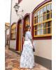 Vestido Longo com Fenda Branco Boutique k