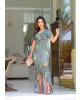 Vestido Longo com Fenda Kauly