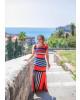 Vestido Longo Listrado Laranja Boutique K