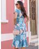 Vestido Peplum Azul Maria Amore