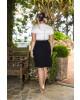 Vestido Pregas Plus Size Kauly