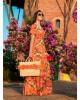 Vestido Longo Floral Laranja Puro Sharmy