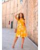 Vestido Tie Dye Amarelo Boutique K
