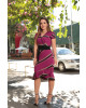Vestido Transpassado Listrado Luciana Pais