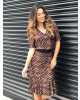 Vestido Transpassado Print Clara Rosa
