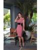 Vestido Tubinho Rose Kauly