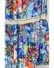 Vestido Puro Sharmy Longo Estampado Azul 8240