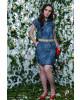 Vestido Puro Sharmy Jeans Estampado Floral 10784